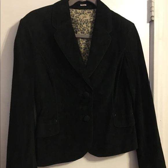 June Jackets & Blazers - Black Suede Blazer/Jacket